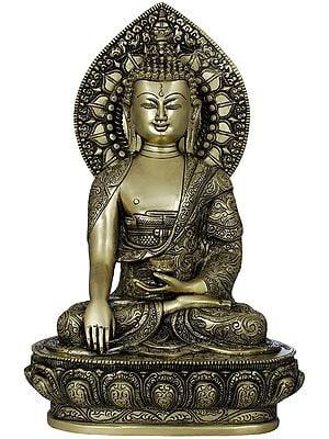 Buddha Shakyamuni on Lotus Seat - Tibetan Buddhist