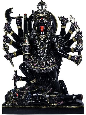 Devi Mahakali Wields Multiple Weapons