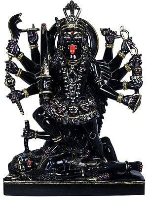 Devi Mahakali Wields Multiple Weapons