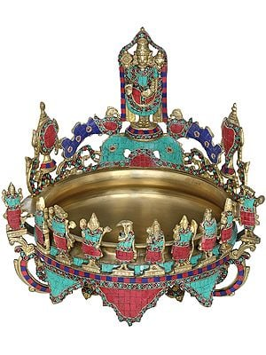 Tirupati Balaji Urli with Dashavatara and Vaishnava Symbols