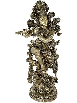Superfine Superbly Embellished Large Krishna
