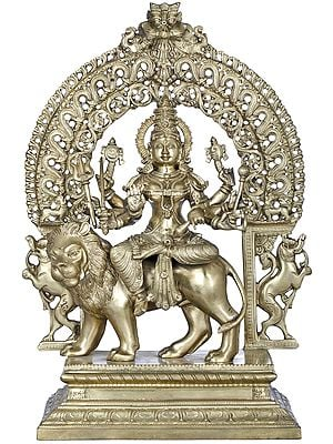 Superfine Goddess Durga with Marvellous Arch