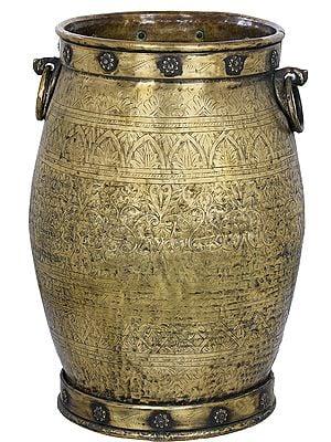 Fully Engraved Brass Vessel