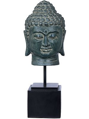 Wooden Stand Buddha-Head
