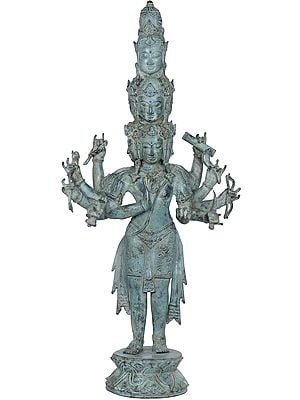 Large Size Nine Headed Avalokiteshvara - Tibetan Buddhist