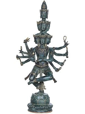 Eight Headed Dancing Shiva