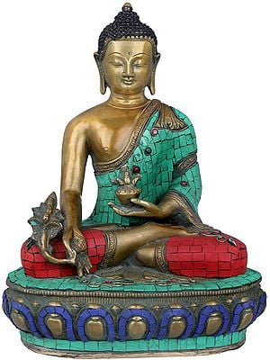 Lord Buddha Seated in Padmasana on Lotus Seat- Tibetan Buddhist