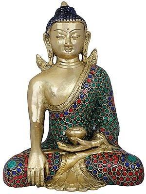 Buddha with Pinda Patra- Tibetan Buddhist