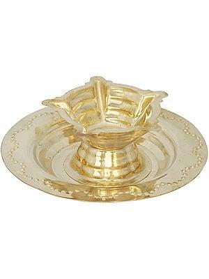 Five Wicks Small Puja Lamp (Price Per Pair)