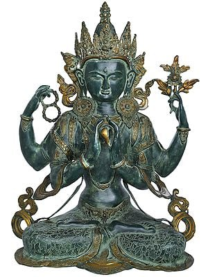 Tibetan Buddhist Deity Large Size Shadakshari Lokeshvara (Chenrezig)