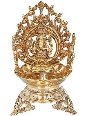 Lord Ganesha Large Diya (Lamp)