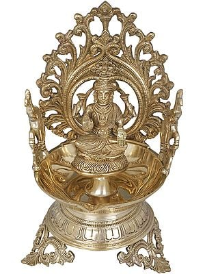 Goddess Lakshmi Large Diya (Lamp)