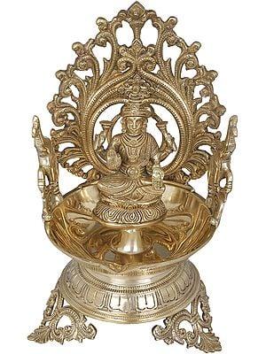 Goddess Lakshmi Large Diya (Lamp)