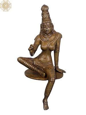 "9"" Beautiful Edge of Desk Seated Goddess Uma | Goddess Parvati |"