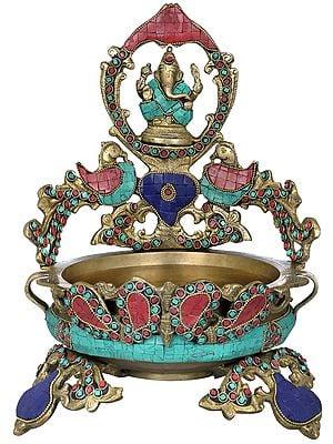 Lord Ganesha  Peacock Urli