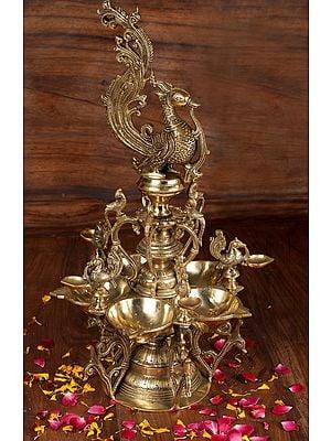Auspicious Peacock Lamp
