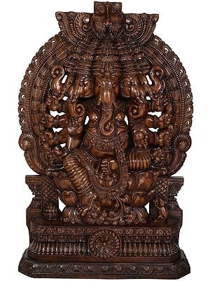 Fine and Large Panchamukhi (Five-Headed) Ganesha