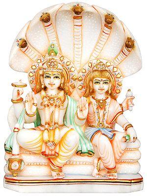 Vishnu Lakshmi Seated on Sheshanaga