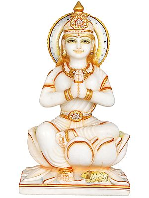Devi Parvati Seated in Anjali Mudra