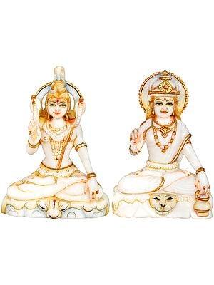 Shiva Parvati Granting Abhaya