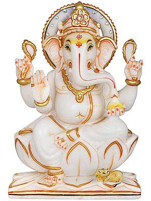 Chaturbhuja Kamalasana Ganesha