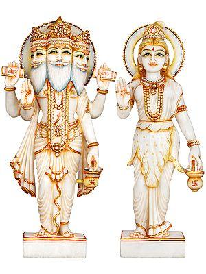 Haloed Brahma-Brahmani
