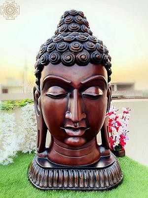 Superfine Large Buddha Head (Tibetan Buddhist)
