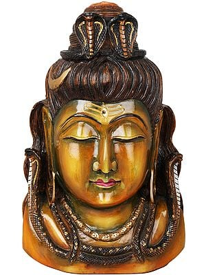 Lord Shiva Head with Ganga Flowing From His Head