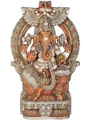 Large Chaturbhuja Ganesha