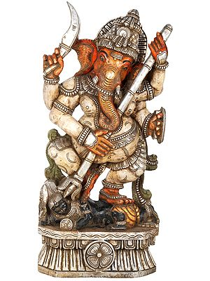 The Warrior Siddhi Vinayaka Ganesha - Large Size