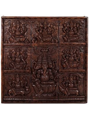 Ashtavinayaka (Eight Ganeshas) Panel