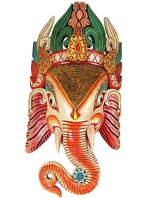Large Wall Hanging Ganesha Mask (Made in Nepal)