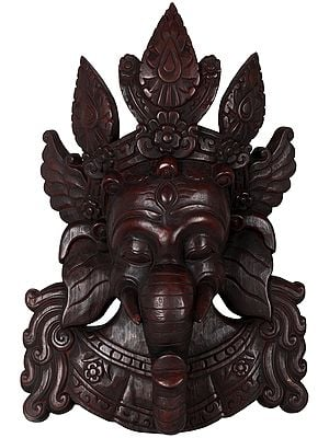 Lord Ganesha Wall Hanging Mask - Made in Nepal
