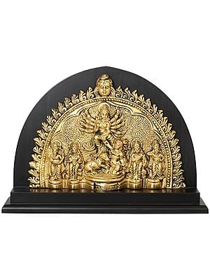 Mahishasura-Mardini in Kolkata Durga Puja Style
