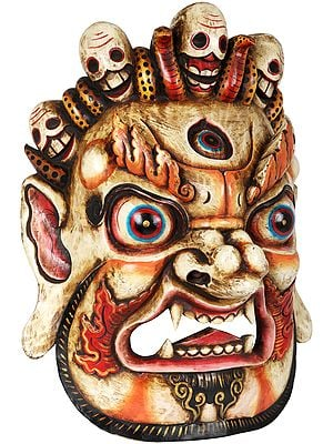 Tibetan Buddhist Mahakala Mask - Wall Hanging From Nepal