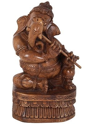 Ganesha Playing Melodious Flute