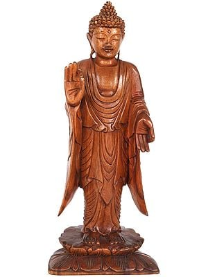 Standing Buddha, Poised Upon An Open Lotus
