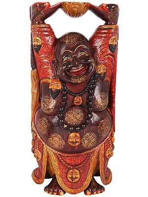Embellished Laughing Buddha (Tibetan Buddhist)