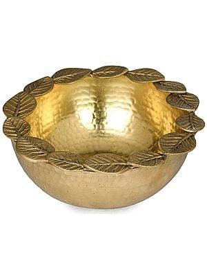 Handmade Urli with Circle of Leaves (Designer Urli)