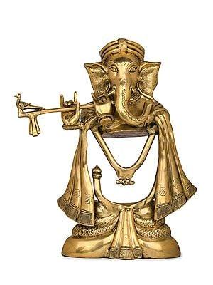 Stylized Fluting Ganesha