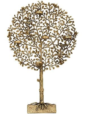 Tree of Life with Five Wax Diyas Holder