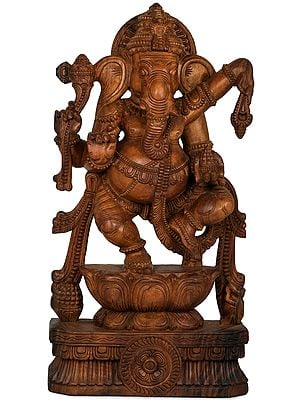 Bhagawan Ganesha Dancing on Lotus