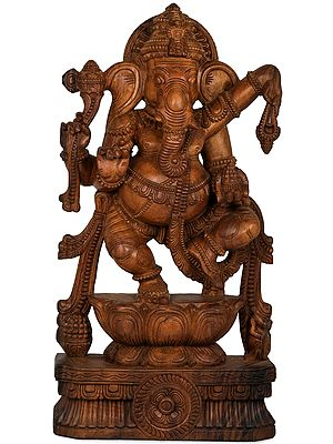 Bhagawan Ganesha Dancing on Lotus