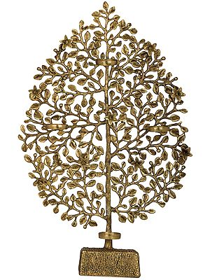 Tree of Life with Four Wax Diyas Holder