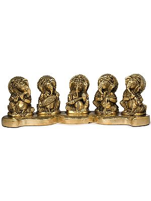 Five Musical Ganeshas