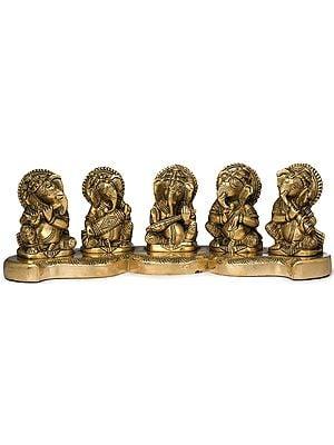 Five Musical Ganeshas
