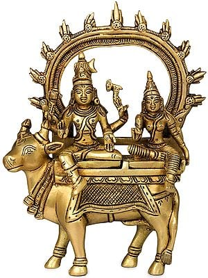 Shiva Parvati Seated on Nandi
