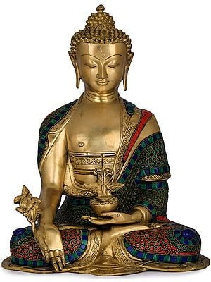 The Resplendent Medicine Buddha In A Robe Of Blue