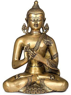 Lord Buddha in Dharmachakra Mudra - Tibetan Buddhist