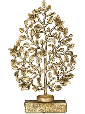 Tree of Life with Attached Wax Diya Holder